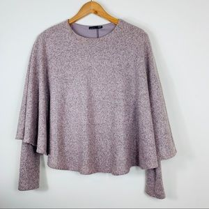 Zara; Long Sleeve Poncho Top